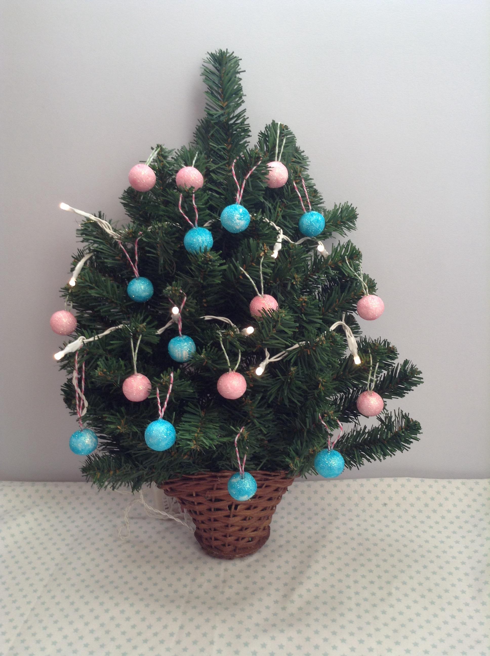 Preparando la navidad xi bolas de navidad caseras mifuku for Arbol de navidad pequeno