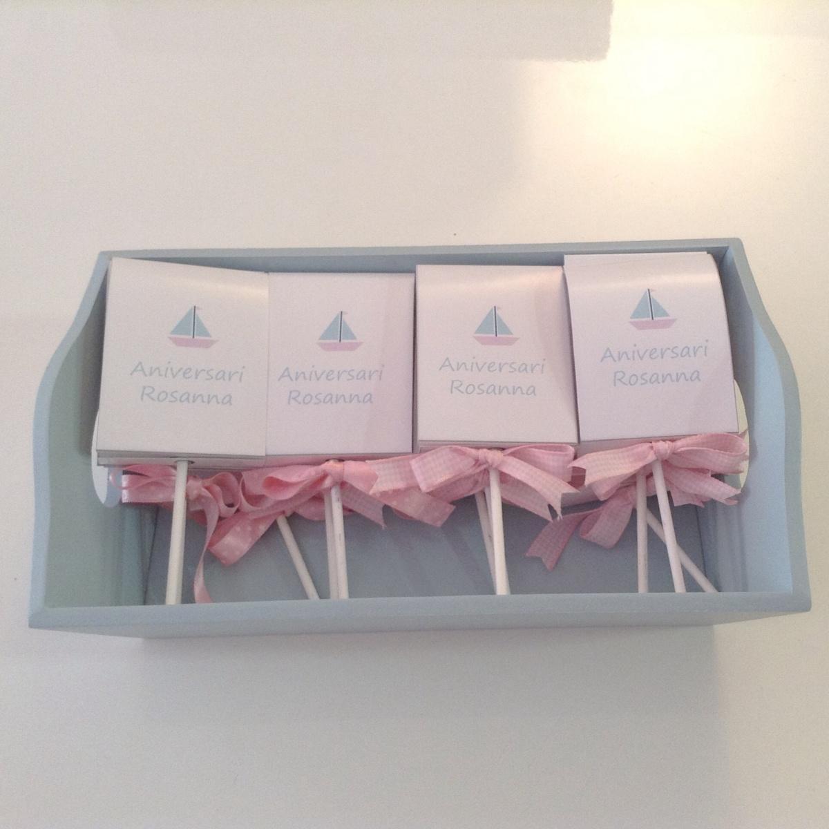 imprimibles para vuestras fiestas y diy de un detalle para regalar en ellas: piruletas personalizadas