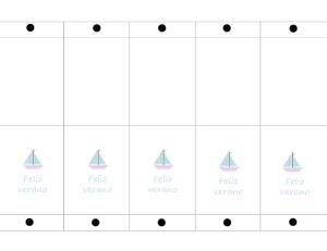 imprimible para funda de piruleta personalizada texto feliz verano