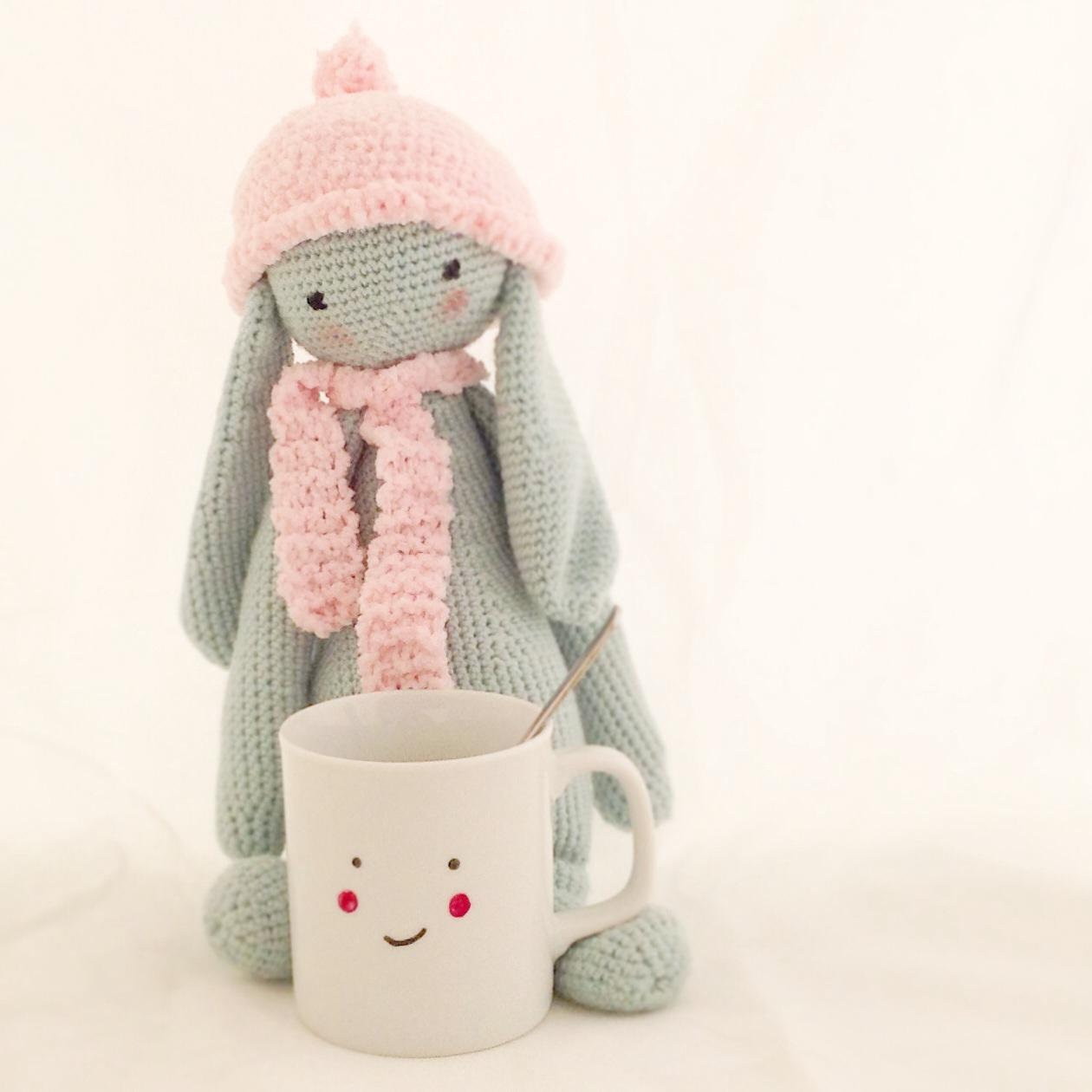 Conejo Kawaii Amigurumi Patron : El cafe de los lunes con el segundo reto cumplido del mes ...