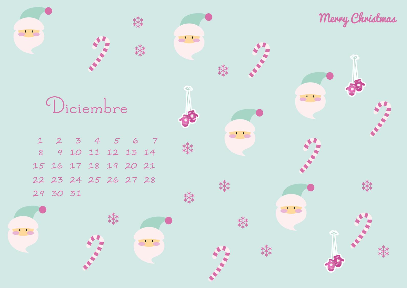 Calendario De Diciembre 2014, Fondo De Pantalla Y